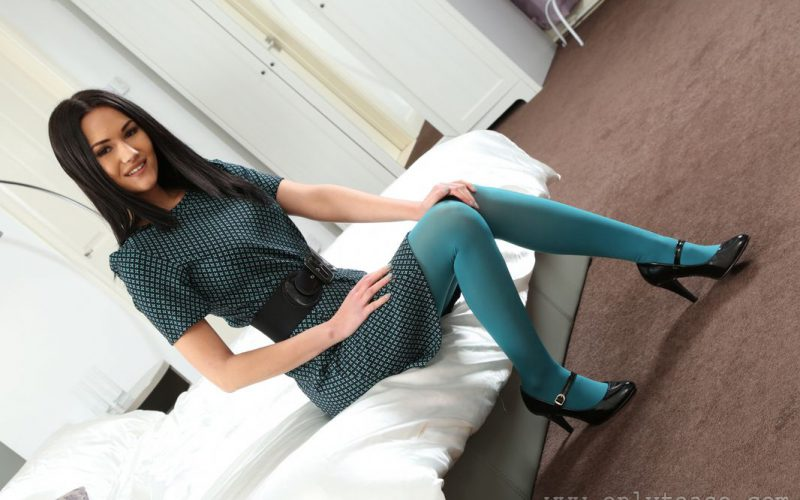 Only Tease Daisy Rose In Colorful Opaque Pantyhose